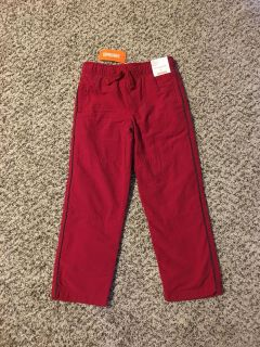 Gymboree Fleece Lined Pants. Red. Size 5. Brand New with Tags.