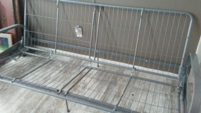 Never used Silver metal full size Futon frame