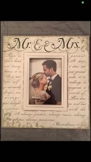 Newlyweds picture frame