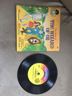 Wizard of oz book and record