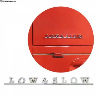 VW Low & Slow Script Emblem Badge Volkswagen