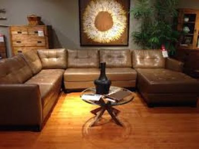 Martino Cafe Italian Leather 3 piece sectional ~ Furniture Now