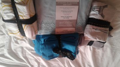 3 sets double bedding 2 gently used.1 NEW