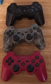 3 Ps3 Controllers $25 for all or $10 each
