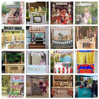 Booth, stand, vendor cart or photo prop