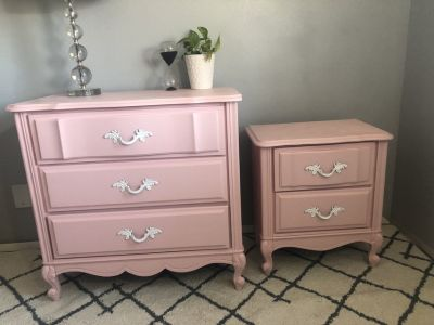 French provincial dresser & Night Stand
