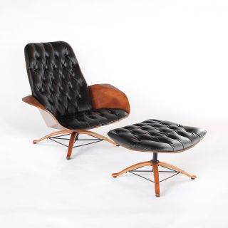 1st Edition Mr Chair in Leather - Lounge Chair