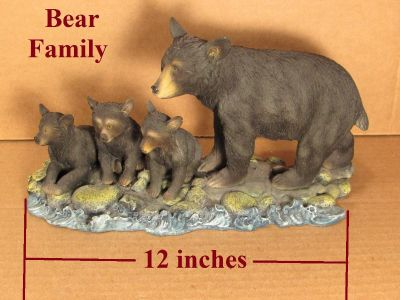Bear family Mama Bear and 3 cubs nice knickknack perfect condition
