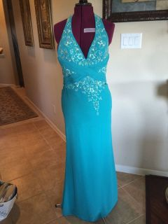 Homecoming Bella By Venus Formal Dress Ball Wedding Prom Sz 4 6 8 (see measurements) Turquoise R...