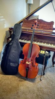 Beautiful Flamed Full Size Cello