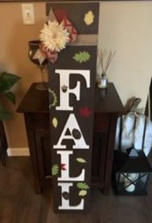 Ready set FALL! Wood entryway sign!
