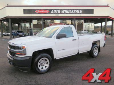 2016 Chevrolet Silverado 1500 4x4 Long Bed Work Truck Chevy (White)