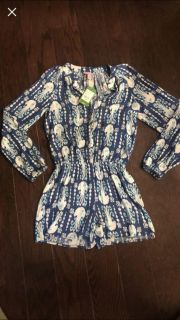 Lilly Pulitzer Size XXS Romper Brand New W Tags Retails $168 Selling $45