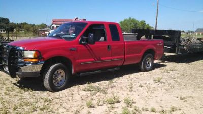 1999 Ford F250 4x4 with 30 Gooseneck Trailer