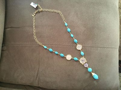 Chico s turquoise coin necklace