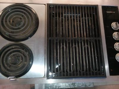 Stainless Wall Oven and Counter Range Stove