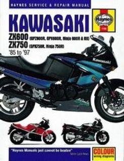 Sell Haynes Service Manual for Kawasaki ZX600 & 750 Ninjas, '85-'97 motorcycle in Ashton, Illinois, US, for US $40.95