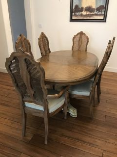 Dining room table, 6 chairs, and hutch just in time for Thanksgiving!