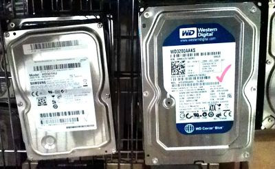 "320 GB SATA hard drives, 3.5"" 7200 RPM"