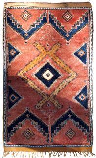 Handmade antique Moroccan Berber rug, 1B589