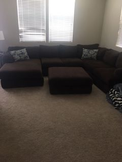 Moving sale FURNITURE. Large Sectional sofa, bunk beds, three piece black entertainment center, console tables all must go make offer