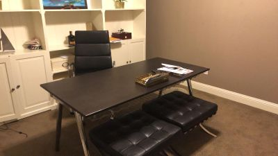 Coffee brown dining/office/study table $40