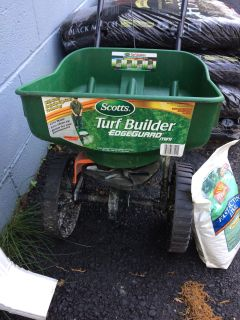 Scotts Turf Builder Spreader and Pennington Fast Acting Lime