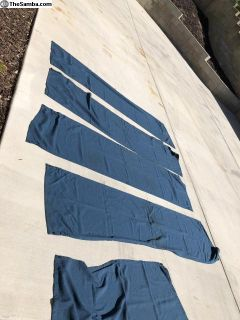 Vanagon blue curtain set