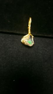 Genuine rough opal wire wrapped