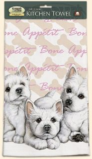 Fiddlers Elbow West Highland Terrier Dish Tea Towel Made in the USA