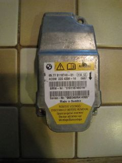 Buy BMW AIRBAG SIDE BAG SENSOR CONTROL UNIT AIR BAG E60 E61 E63 E85 E86 5 6 Z4'ies motorcycle in Kent, Washington, United States