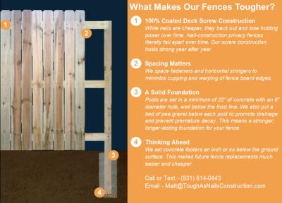 We Build the Toughest Privacy Fences at a Great Price!