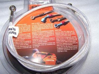 Find Hayabusa Chrome Platinum Galfer Stainless Steel Stock Size Rear Brake Line 08-13 motorcycle in Plattsburg, Missouri, US, for US $59.99