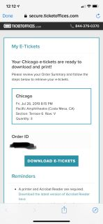 Chicago concert tickets