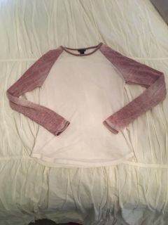 Distressed Henley style shirt