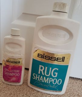 $3. Combo Set of Bissel Rug Shampoo Concentrated Weighs 42oz [MSRP $15.39] + Bissel Upholstery Shampoo Concentrated Weighs 5oz [MSRP $3.49]