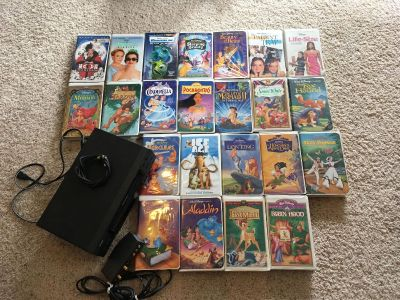 VCR and 23 Disney vhs movies