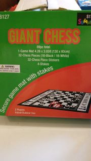 Giant Chess lawn game
