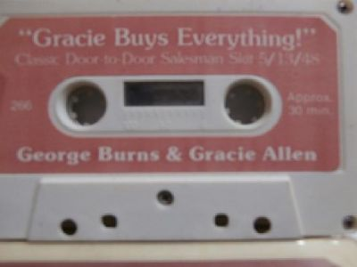 Collector Cassette Tape - George Burns and Gracie Allen