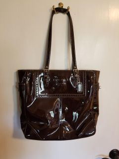 Patent leather Coach bag