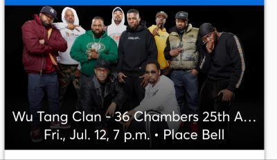 1 ou 2 Tickets pour Wu Tang Clan 36 chambers 25th Anniversary