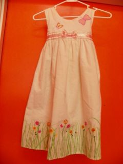 White Linen One Piece Dress with Painted on skirt