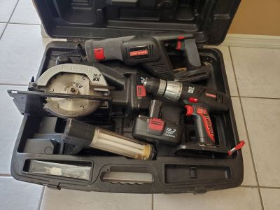 Craftsman 19.2 volt EX tool set with hard case