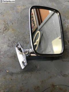 Chrome NOS Golf MK1 Left Side Mirror