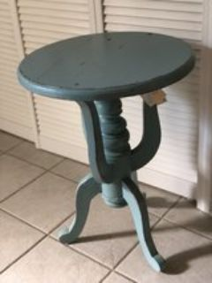Robins Egg Blue Side Table