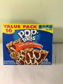 Chocolate chip cookie dough Pop tarts 16 count