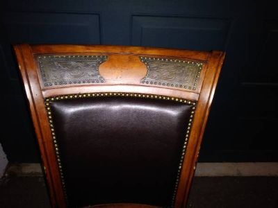 4 Traditional Poker Chairs Solid Wood