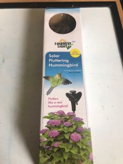 New harvest lights solar hummingbird