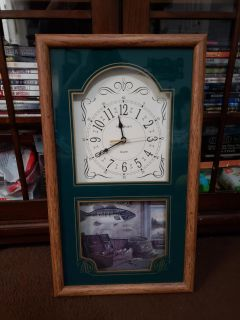 Bass Fishing Wall Clock. Excellent Condition
