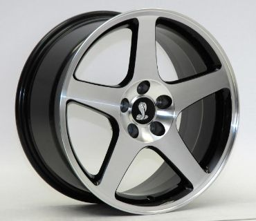 Buy AFS WHEELS 94-2004 Mustang 03 COBRA SVT MAC BLACK 18 X 9 02 01 99 98 97 96 rims motorcycle in Canoga Park, California, US, for US $695.00